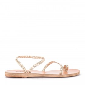 Ancient Greek Sandals Eleftheria platinum leather sandal.