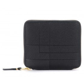 Wallet Comme Des Garçons Wallet Intersection model in black leather