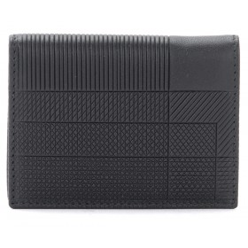 Comme Des Garçons wallet Intersection model in black leather