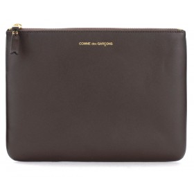Comme des Garçons Wallet pouch in brown leather