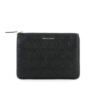 Pochette Comme des Garcons wallet in black cow leather