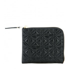 Comme des Garcons wallet in black printed cow leather