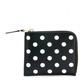 Comme Des Garçons Wallets rectangular black and white polka dots nera purse