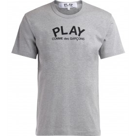 Comme Des Garçons Play T-Shirt in gray cotton with logo