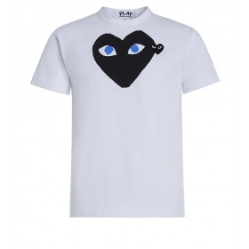 Play by Comme de Garcon white T-shirt with black heart