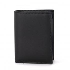 Comme Des Garçons black leather wallet.