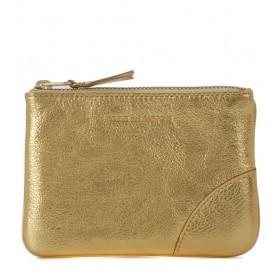 Comme des Garçons golden leather purse wallet