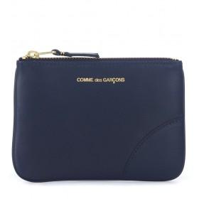 Comme Des Garçons Wallet blue leather pouch