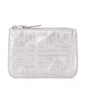 Comme des Garçons Wallet silver printed leather purse