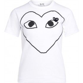 Comme Des Garçons PLAY women's white t-shirt with black heart