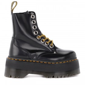 Dr. Martens Jadon Max combat boot made of black leather