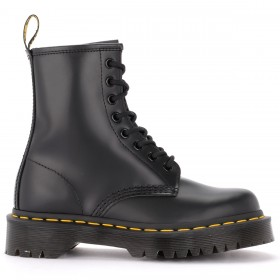 Dr. Martens model 1460 Bex Smooth combat boot in shiny black leather