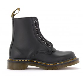 Dr Martens Pascal combat boots in black leather with front zip