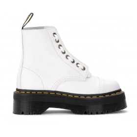 Dr. Martens Sinclair white combat boot in hammered leather