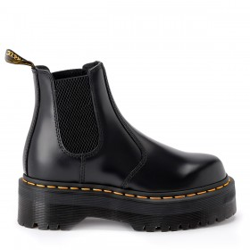 Beatles Dr. Martens Quad in black leather with maxi lug sole