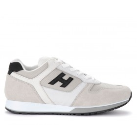 Hogan H321 sneakers in black and white leather and suede