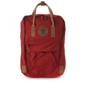 Kånken by Fjällräven 15'' red backpack with leather handles