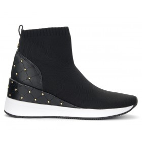 Michael Kors Skyler trainer in black fabric with studs