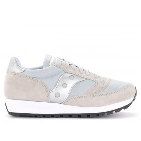 Saucony Jazz 81 sneakers in suede and gray and silver fabric