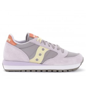 Saucony Jazz sneakers in suede and lilac fabric