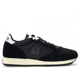 Saucony Jazz Vintage trainer in suede and black fabric