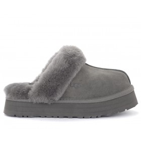 Ugg Disquette slipper sandal in grey suede