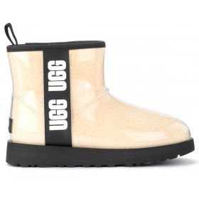 UGG Classic Clear Mini ankle boot in cream-colored wool
