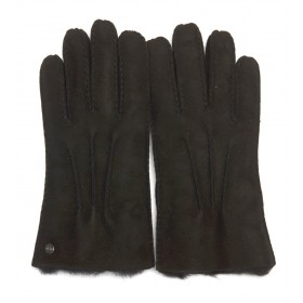 Ugg black suede gloves