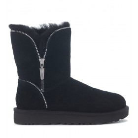 Ugg Florence black suede ankle boots with zip