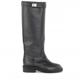 Via Roma 15 high boots in black leather