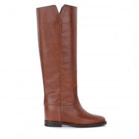 Via Roma 15 boot in brown leather