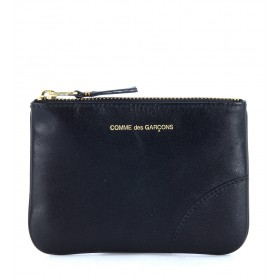 Comme des Garçons Wallet pouch in black calf leather