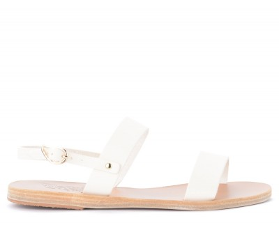 Sandalo Ancient Greek Sandals Clio in pelle bianca