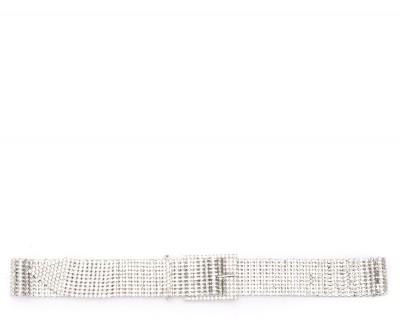 Cintura B-Low the Belt modello Farah con cristalli argento