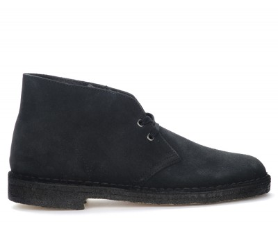 Polacco Clarks Originals Desert Boots in camoscio blu navy