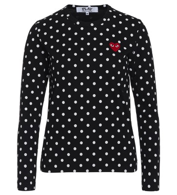 T-shirt  Play by Comme de Garcon nera con pois bianchi