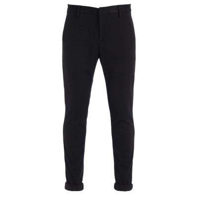 Pantalone slim Dondup Gaubert a microrighe blu