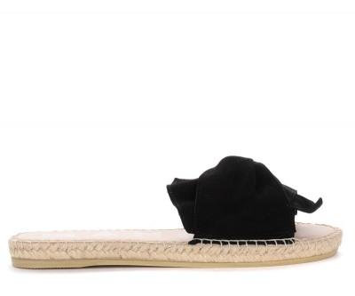 Ciabattina Manebí Hamptons in camoscio nero