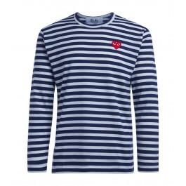 Comme Des Garçons T-Shirt PLAY Streifenmuster