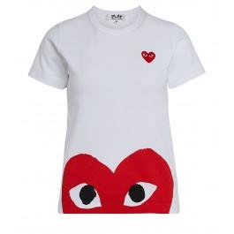 Comme Des Garçons Play T-Shirt Weiss mit rotem Herz