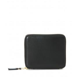Comme des Garçons Portemonnaie aus Leder in Schwarz mit Reißverschluss über 3 Seiten