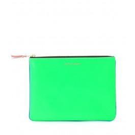 Comme des Garçons Unterarmtasche aus Leder in Blau/Grün