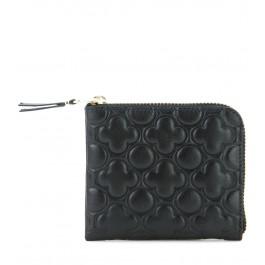 Portemonnaie Comme des Garcons wallet aus Leder in Schwarz