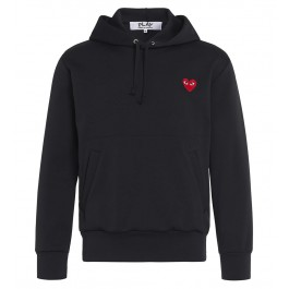 Sweatshirt Play by Comme de Garcon in Schwarz mit rotem Herz