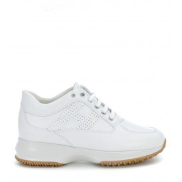 Sneakers Hogan Interactive aus Leder in Weiss