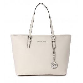 Michael Kors Shopper Jet Set Travel TZ Tote Saffianleder Betongrau