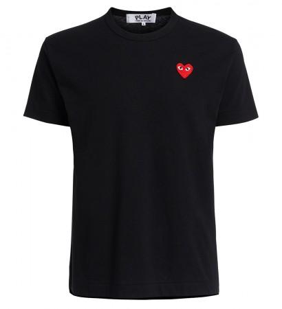 Comme des Garçons Play Rundhals-T-Shirt in Schwarz