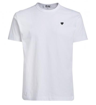 T-shirt Comme des Garçons Play girocollo bianco