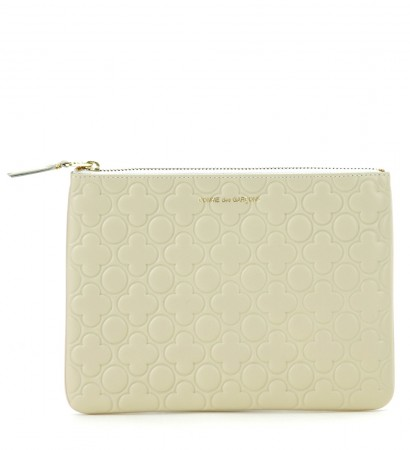 Portafoglio Comme des Garcons wallet in pelle bianca
