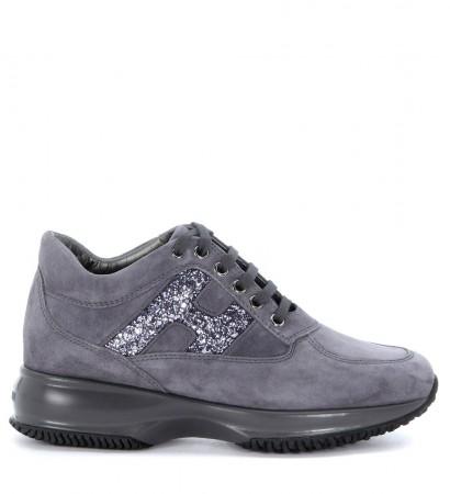Sneaker Hogan Interactive in camoscio grigio